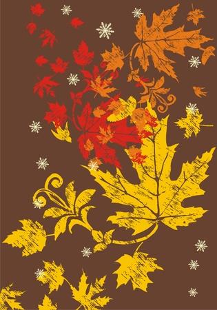 yellow leaf Vector