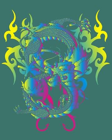 dynasty: tribal dragon Illustration
