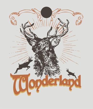 wonderlands graphic Vector