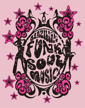disco symbol: funk music Illustration