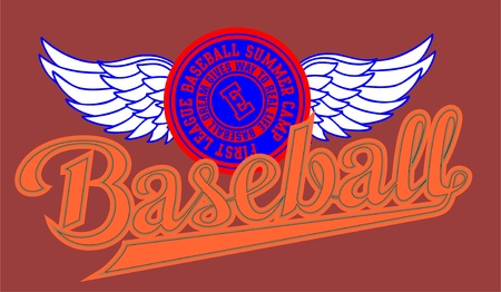 wings baseball Vector