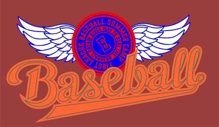 wings baseball Stock Vector - 10655351
