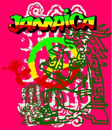 rasta colors: jamaica Illustration