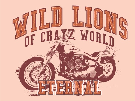 moto: wild lions Illustration