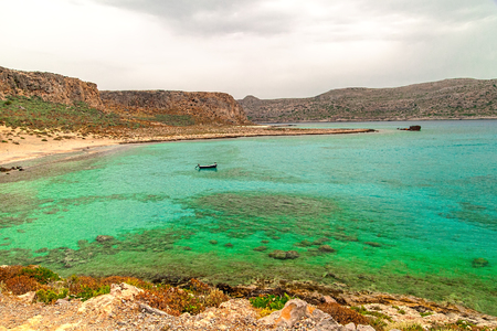 Crete. Fort Gramvousa. The azure waters around the island