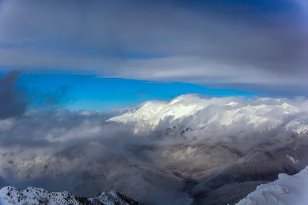 View from the top. Mountain rose Peak, 2320 meter 版權商用圖片