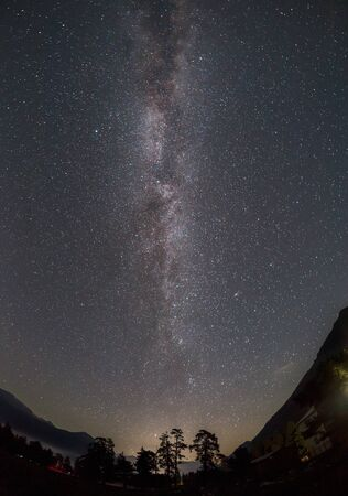 Milky Way galaxy in the mountains of Arkhyz