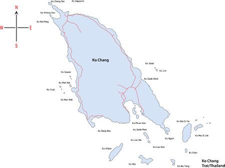 Map Of Koh Chang At Trat / Eastern Thailand Royalty Free Cliparts ...