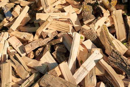 Largely chopped firewood, piled in a heap, close-up Reklamní fotografie