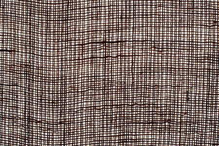 Photo texture of burlap dark brown color made from natural linen material