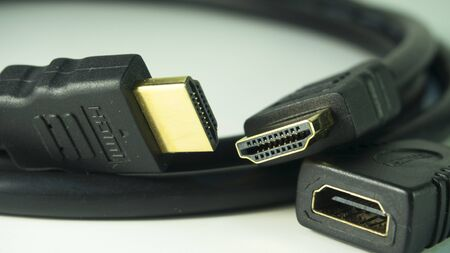 adapters: hdmi cable Stock Photo