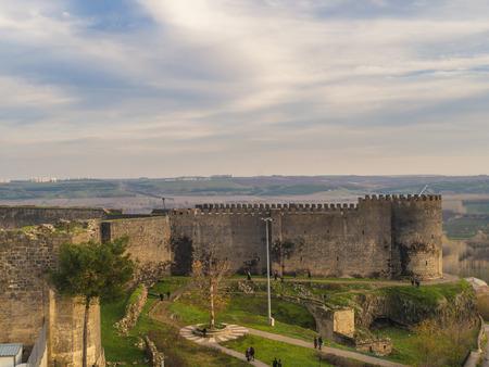 landscape view of the historic walls of diyarbakir-turkey Stock Photo