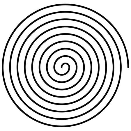 spral vector illustration drawn on white background 矢量图像