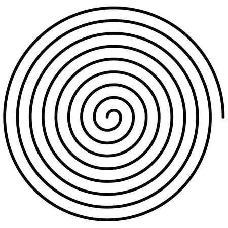 spral vector illustration drawn on white background 免版税图像