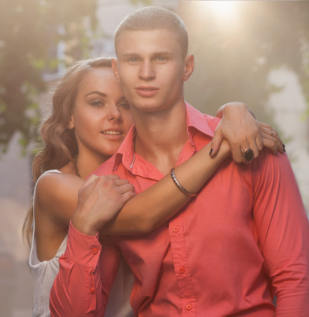 tender passion: Fashion photo of sexy elegant couple in the tender passion