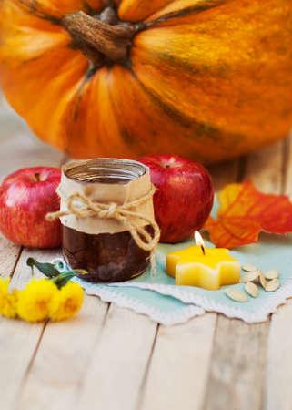 Halloween. Autumn concept of food