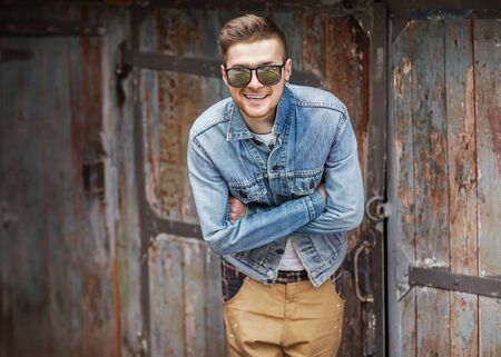 Hipster style guy photo