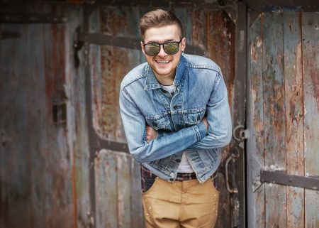 cool dude: Hipster style guy