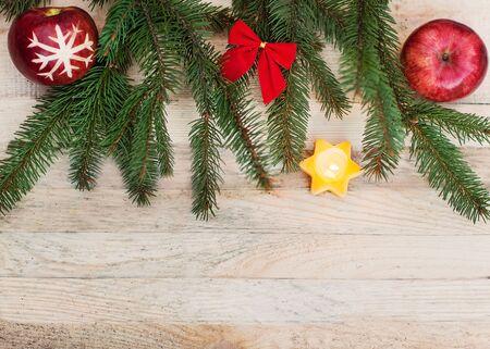 Christmas greeting card, vintage photo