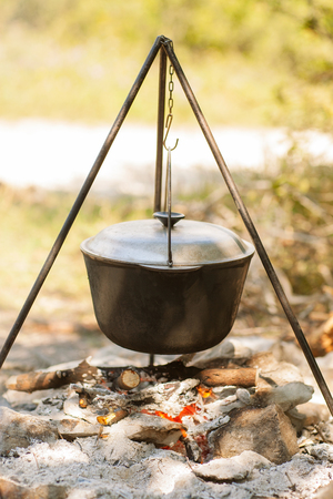 caldron: tourist cauldron is jut cooking in Cauldron on Campfire