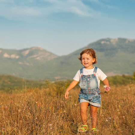 girl in the field photo