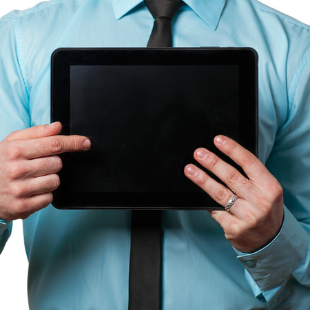 tablet in the hands