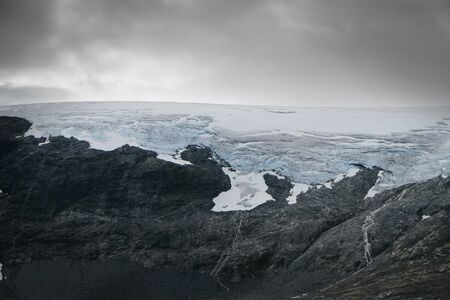 jostedal: Glacier in mountains of Norway  Stock Photo