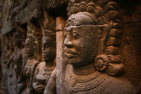 Relief statue in Cambodia  Angkor Wat, Cambodia   Stock Photo - 18534730