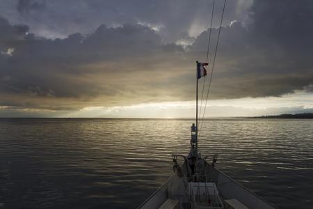 leman: Switzerland  Boat on Lake Leman