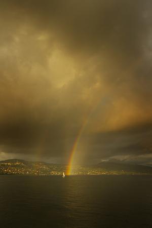 leman: Switzerland  Rainbow on Lake Leman
