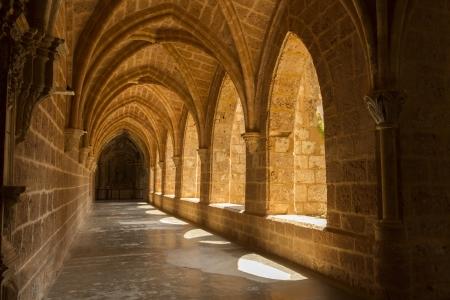 モナステリオ デ ピエドラ、サラゴサの内部ビュー 写真素材