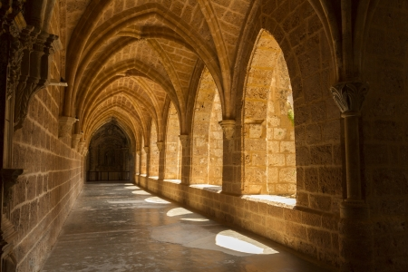 Interior view of the Monasterio de Piedra, Zaragoza Stock Photo