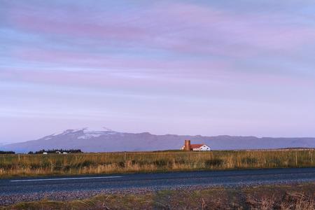 View towards Eyjafjallajokull Volcano. Iceland photo