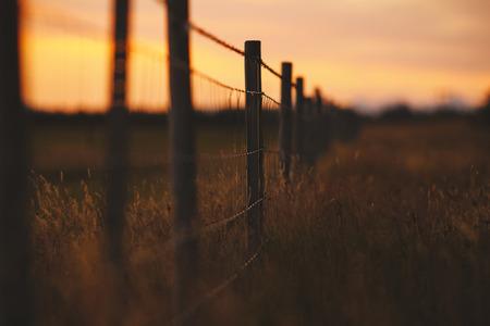 Rustic fence ranch in southern Iceland Reklamní fotografie