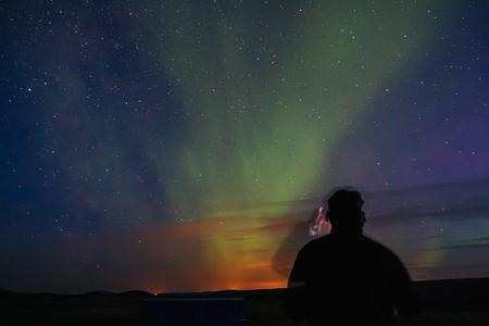 magnetosphere: Northern Lights in Iceland. Aurora