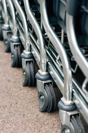 Detail of a shopping cart Stock Photo