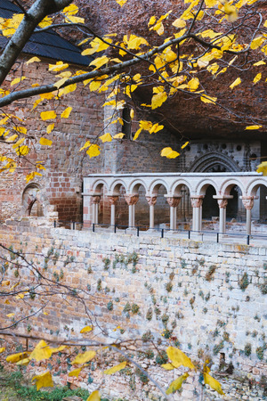 pena: San Juan de la Pena romanesque Monastery Huesca Spain Stock Photo