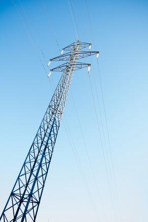 electric power station: Electric power station with blue sky