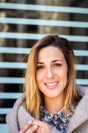 Beautiful woman portrait in outdoor Banco de Imagens