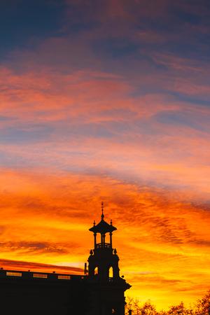 orange sunset: Orange sunset colors Stock Photo