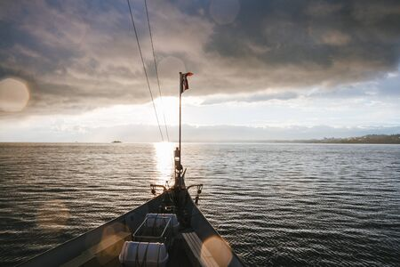 geneva: Swiss excursion boat sailing on Lake Geneva.