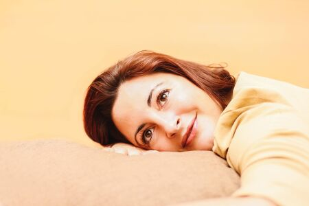 Woman portrait with blur background Stock Photo