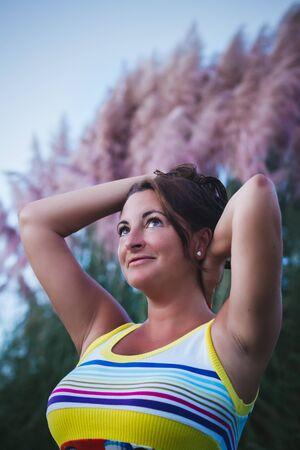 Happy woman portrait