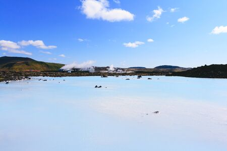 The Blue Lagoon geothermal bath resort in Iceland