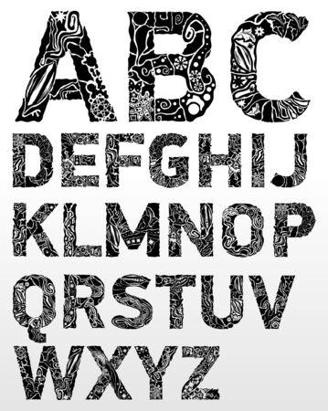flower font: abstract flower font
