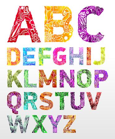 flower font: flower font Illustration