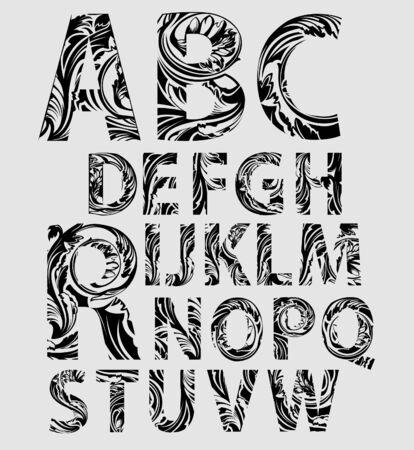 Decoratieve Font Stock Illustratie