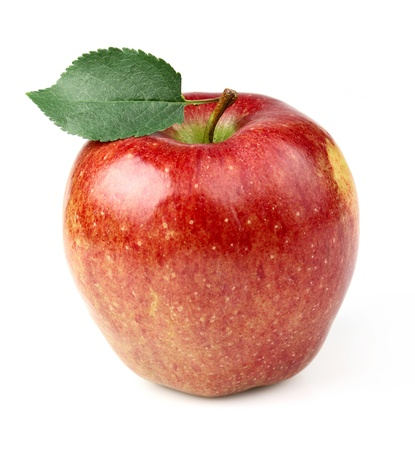 Red apple on a white background Stock Photo