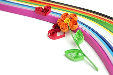 Quilling flower Stock Photo