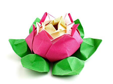 lotus origami on a white background